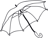 An umbrella (parapluie)